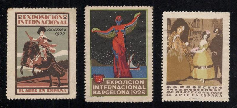 1929 International Art Expo. Labels