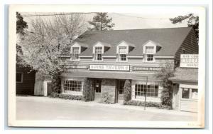 Postcard Pine Tavern, Bend, Oregon OR Restaurant Coffee 1948 RPPC I22