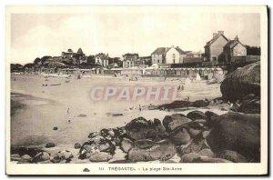Old Postcard La Plage Ste Anne Tregastel