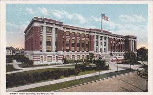 Virginia Norfolk Maury High School Curteich