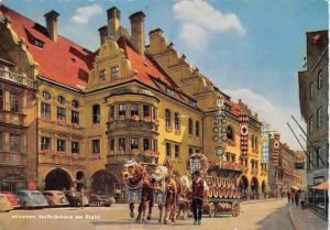 Muenchen Hofbraeuhaus am Platzl, Auto Cars Horse Carriage The Royal Brewery
