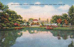 Reflection Pool, Botanic Garden, Rock Springs Park, FORT WORTH, Texas, 1930-1...