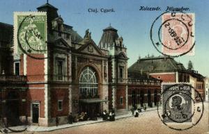 romania, CLUJ KOLOZSVAR, Cgara, Railway Station (1925) Stamps