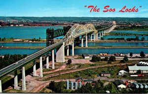 Michigan Sault Ste Marie Soo Locks and International Bridge