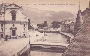 France Annecy L'Eglise St-Francois et les Canaux