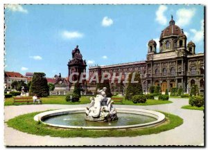 Modern Postcard Wien Museum set Mario Theresia Denkmal