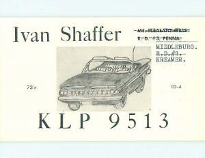 comic - QSL CB HAM RADIO CARD Middleburg - Kreamer - Mt. Pleasant PA t8811