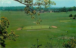 View of Golf Course Hill & Dale Country Club Dayton Ohio OH Chrome