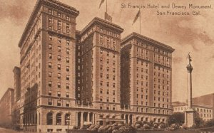 SAN FRANCISCO, California, 1900-10s; St. Francis Hotel and Dewey Monument