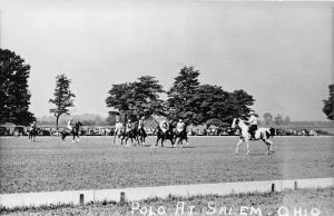 E92/ Salem Ohio RPPC Postcard Columbiana Co c50s Polo Horses Game