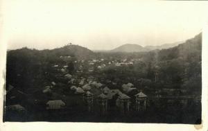 Haiti, Town in the Hills (1910s) RPPC Postcard