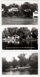 3 - RPPC, Pine Camps & Smith Camps, Chippewa Bay NY