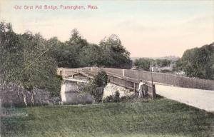 Old Grist Mill Bridge, Framington, Massachusetts, PU-1909