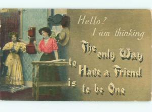Divided-Back PRETTY WOMAN Risque Interest Postcard AA7842