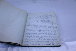 Vintage 1914 Used Black Leather Journal First Entry June 13, 1914