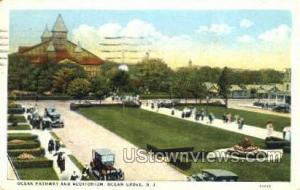 Ocean Pathway And Auditorium Ocean Grove NJ 1925
