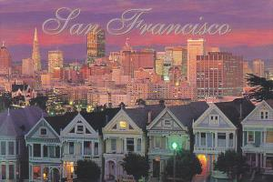 Famed Victorian Homes Of San Francisco California