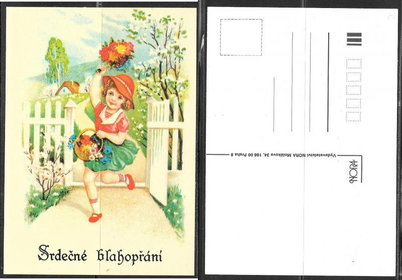 Czechoslovakia greeting card, unused