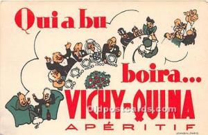Advertising Postcard - Old Vintage Antique Vichy Quina Aperitif Unused