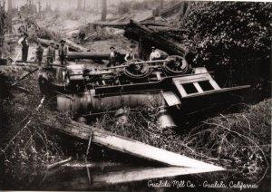 CA - Gualala. Train Wreck, Gualala Mill Co.  (5.75 X 4 Photo Reprint)