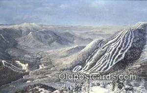 Waterville Valley Ski Area, Waterville Valley, NH USA Ski, Skiing Postcard Po...