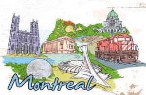 Art Postcard, Montreal, Canada, Landmarks, City, View, Travel 82H