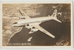 Trans Canada's North Star Photo RPPC Postcard airline DC-4