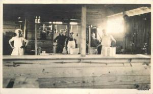 1920s Commercial Kitchen Interior Cooks Group Photo Occupation RPPC 2231