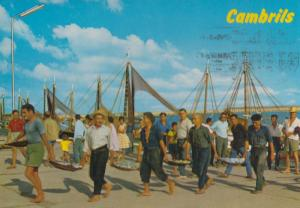 Cambrills Arrival For Fishing Spain Spanish Postcard