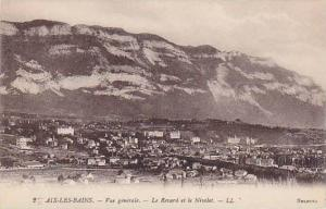AIX-LES-BAINS, Vue generale, Le Revara et le Nivolet, Savoie, France, 00-10s