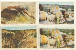 4 PC LOT,Views Of Yellowstone National Park,Wyoming,10-20s