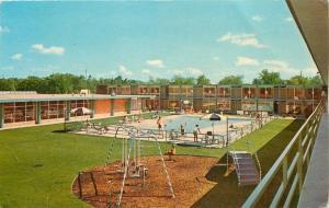 Ann Arbor Michigan~Holiday Inn~Pool~Playground Swings~Double Wide Slide~1962