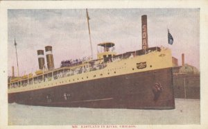 CHICAGO, Illinois; 1909; Steamer EASTLAND in River
