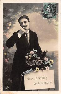 Aurai-je le don de vous plaire elegant homme, the gift of pleasing you 1900s