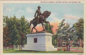 Indiana Fort Wayne General Anthony Wayne Statue Curteich