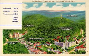 AR - Hot Springs. Aeroplane View