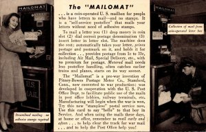 Advertising Pitney-Bower Postage Meter Mailomat