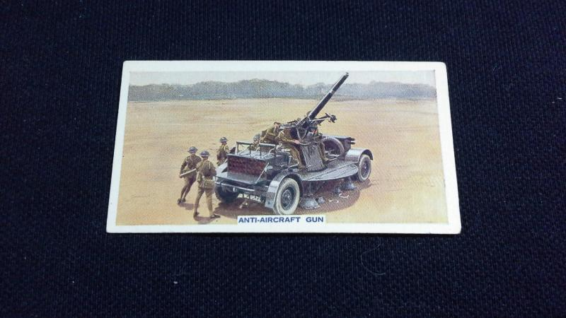 Godfrey Phillips Cigarette Card No 16 This Mechanized Age Anti Aircraft Gun