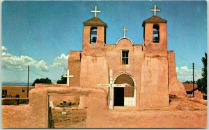Taos, New Mexico Postcard RANCHO DE TAOS CHURCH Chrome - 1964 NM Cancel