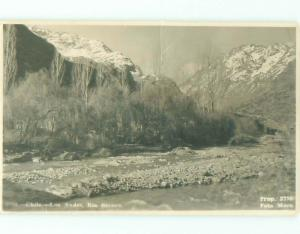 old rppc NICE VIEW Los Andes - Valparaiso Chile i3239