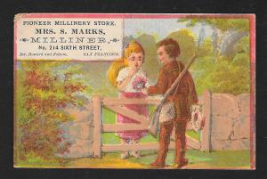 VICTORIAN TRADE CARD Pioneer Millinery Store