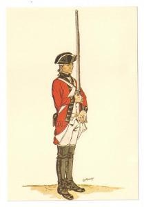 Battalion Soldier British 64th Regiment of Foot 1779