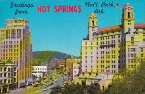 Arkansas Hot Springs Central Avenue Looking Northwest