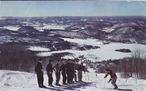 Skiers View from Top of Flying Mile,  Mont Tremblant,  Quebec,  Canada,  PU_1989