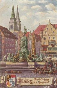 NURNBERG , Germany, 1900-10s ; Hauptmarkt mit Neptunbrunnen ; TUCK 665 B