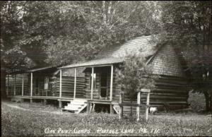 Portage Lake ME Oak Point Camps 1950s-60s Real Photo Postcard