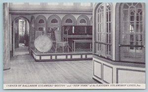 Eastern Steamship Lines~Steamer Boston & New York Interior~Ballroom~Band~1920s