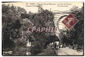 Postcard Old Paris Parc des Buttes Chaumont The Brick Bridge