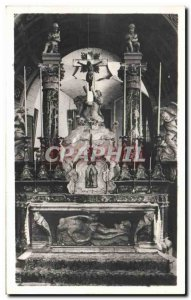 Villeneuve Avignon Old Postcard Church of The Collegiate high altar