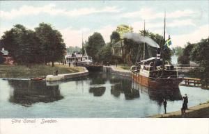 Sweden Goeta Canal Scene With Steamer